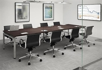 "Picture of 48"" x 96"" Contemporary Conference Meeting Table with Power Management"