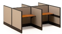 Picture of Maxon Parallel MKIT119P, Cluster of 4 Telemarketing Call Center Cubicles