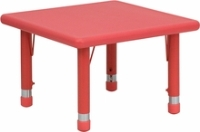 """Picture of 24"""" Adjustable Plastic School Kids Play Table"""