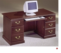 """Picture of 11984 Traditional Laminate 66"""" Kneehole Credenza"""