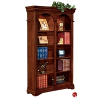 Picture of 32601 Veneer Double Bookcase, Adjustable Glass Shelves
