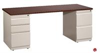 "Picture of 30"" X 72"" Steel Double Pedestal Office Desk"