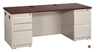 "Picture of 24"" X 66"" Double Pedestal Steel Office Desk Workstation"