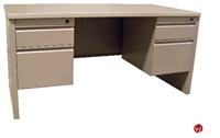 "Picture of 24"" X 60"" Double Pedestal Steel Office Desk Workstation"
