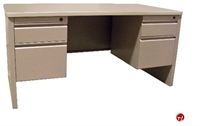 "Picture of 30"" X 60"" Double Pedestal Steel Office Desk Workstation"
