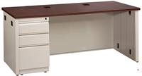 "Picture of 30"" X 72"" Single Pedestal Steel Office Desk Workstation"