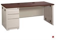 """Picture of 36"""" x 66"""" Single Pedestal Steel Office Desk"""