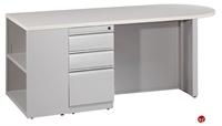 "Picture of 30"" x 72"" Steel Bookcase Pedestal Desk Workstation"