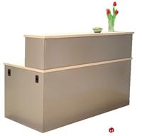 "Picture of 30"" x 48"" Steel Reception Desk Workstation"