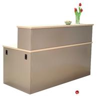 "Picture of 30"" x 66"" Steel Reception Desk Workstation"