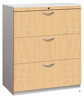 """Picture of 3 Drawer Trace Lateral File Storage Cabinet, Steel 36""""W, Laminate Front"""