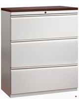 """Picture of 3 Drawer Trace Lateral File Cabinet, 42""""W with Laminate Wood Top"""