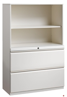 """Picture of 2 Drawer Trace Lateral File Combo Steel Open Cabinet, 42""""W"""