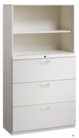 """Picture of 3 Drawer Trace Lateral File Combo Steel Open Cabinet, 30""""W"""