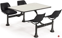 """Picture of 24"""" x 48"""" Cafeteria Connecting Table with Swivel Chairs"""