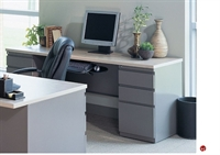 """Picture of 24"""" X 54"""" Steel Kneespace Credenza, 2 Filing Pedestals"""