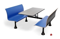 """Picture of 30"""" x 48"""" Cafeteria Dining Table with Connecting Bench"""