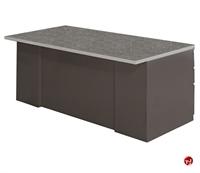 "Picture of 36"" X 60"" Steel Double Pedestal Office Desk Workstation, Overhang"