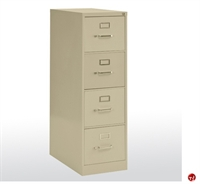 """Picture of 4 Drawer Letter Steel Vertical File Cabinet, 15"""" x 22"""" x 48"""""""