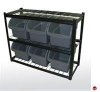 """Picture of 6 Extra Large Compartment Storage Bin Shelving, 42"""" x 16"""" x 53""""H"""