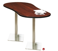 """Picture of 30"""" x 72"""" Oval Cafeteria Dining Bar Height Table"""